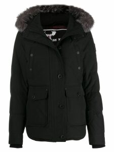 Moose Knuckles hooded down parka coat - Black