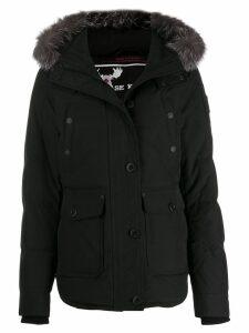 Moose Knuckles hooded down parka coat - Black