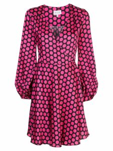 Milly dotted midi dress - Pink