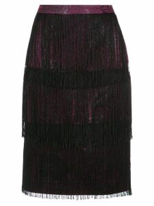 Isolda fringed skirt - Grey
