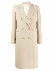Sandro Paris double breasted coat - NEUTRALS