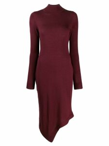 Pringle Of Scotland roll neck asymmetric dress - Purple
