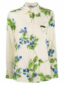 Prada floral print shirt - Neutrals