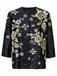 Biyan embellished floral jacket - Blue