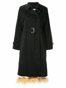 Tu es mon TRÉSOR trench coat - Black