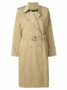 Tu es mon TRÉSOR liberty equality trench coat - Brown