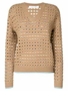 Victoria Beckham felted mesh jumper - Brown