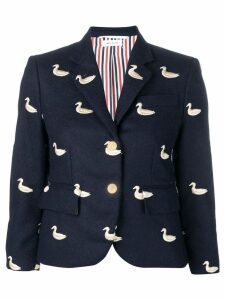 Thom Browne Gold Duck Embroidered Sport Coat - Blue