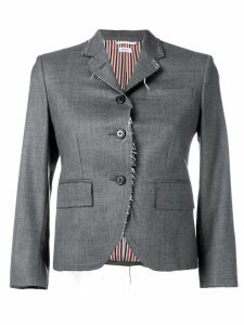 Thom Browne Classic Exposed Seams Sport Coat - Grey