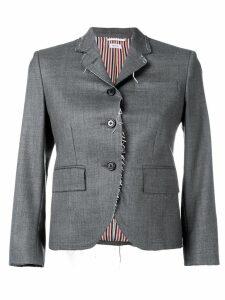 Thom Browne Classic Exposed Seams Sport Coat - Grey