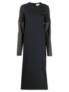 Maison Margiela checked two-tone dress - Blue