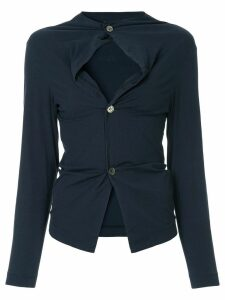 Comme Des Garçons Pre-Owned lightweight shirt jacket - Blue