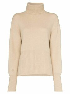 Low Classic roll-neck knitted sweater - Neutrals