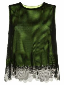 PASKAL tulle overlay top - Black