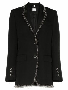 Burberry ring piercing-embellished blazer - Black