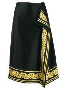 Versace baroque trim midi skirt - Black