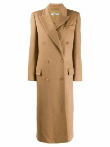 Katharine Hamnett London double breasted maxi coat - Brown