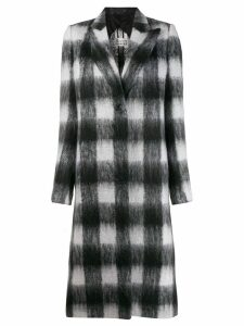 Maison Margiela checked buttoned coat - Black