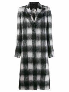 Maison Margiela checked buttoned coat - Black