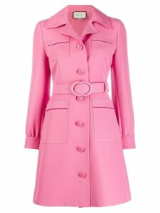 Gucci GG belted shirt dress - Pink