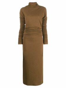 Lemaire roll-neck sweater dress - Brown