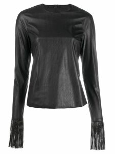 Philosophy Di Lorenzo Serafini faux leather top - Black