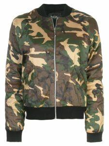 Nicole Miller camouflage print bomber jacket - Green