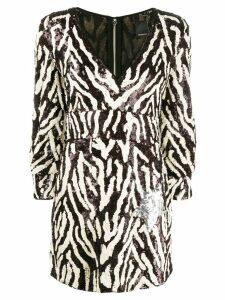 Pinko sequin zebra-striped dress - Brown
