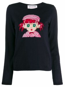 Comme Des Garçons Girl cartoon print sweater - Blue