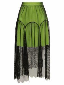 Paskal tulle overlay midi skirt - Black