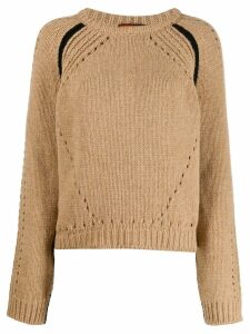 colville boxy hole detail sweater - Brown