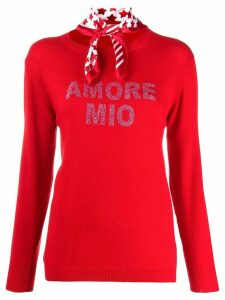 5 Progress Amore mio fine knit jumper - Red
