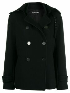 Tom Ford buckled collar peacoat - Black