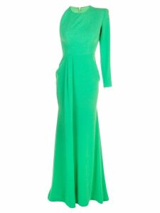 Alex Perry structured shoulders dress - Green