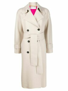 Harris Wharf London double-breasted trench coat - NEUTRALS