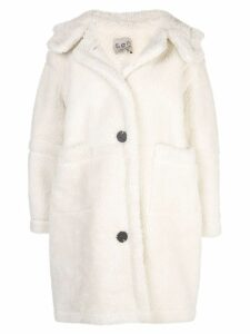 Sea oversized button up coat - White