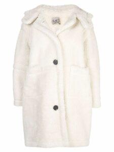 Sea oversized button up coat - White