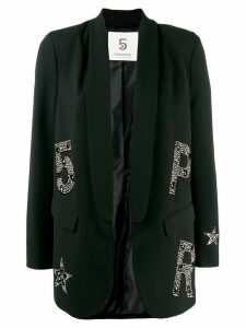 5 Progress crystal embellished logo blazer - Black