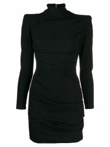 Alex Perry roll-neck short dress - Black