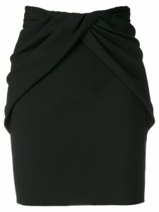 Saint Laurent draped-style skirt - Black