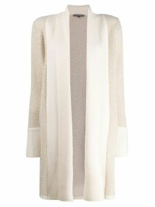 N.Peal draped knitted cardigan - Neutrals