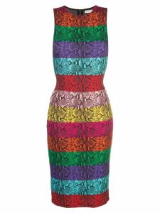 Alice+Olivia rainbow snake print dress - Multicolour