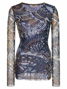 Fuzzi printed knitted top - Blue