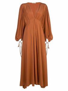 The Row Sante V-neck dress - Brown
