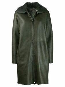Manzoni 24 mink fur collar coat - Green