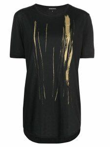 Ann Demeulemeester metallic print T-shirt - Black
