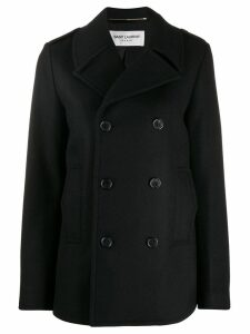 Saint Laurent chaquetón military peacoat - Black