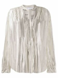 Iro striped tie neck blouse - Neutrals