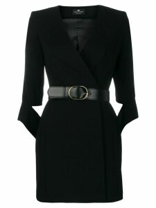 Elisabetta Franchi belted waist dress - Black