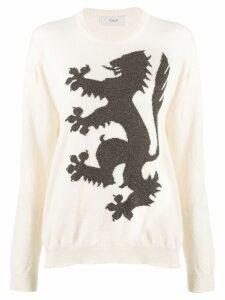 Pringle Of Scotland cashmere printed jumper - White
